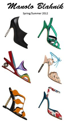 Here's some of my favorites of the Manolo Blahnik spring/summer 2012 collection. You should check them all out yourself! Love'em!
