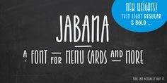 Jabana - a font for menu cards and more! on Behance