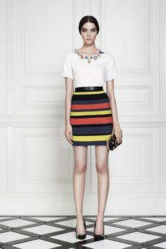 Crochetemoda: striped skirt