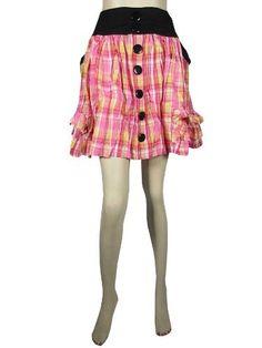 "Peasant Skirt Pink White Plaid Printed Cotton Mini Skirt for Womens 18"" Mogul Interior, http://www.amazon.com/dp/B009MIWR8O/ref=cm_sw_r_pi_dp_zAcgrb12KY98R"