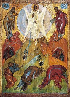 The Transfiguration of Jesus (Theophanes the Greek Byzantine Icons, Byzantine Art, Religious Icons, Religious Art, The Transfiguration, Black Jesus, Religion Catolica, Jesus Prayer, Russian Icons