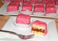 Puncs mignon recept foto Hungarian Desserts, Hungarian Cake, Hungarian Recipes, No Bake Desserts, Dessert Recipes, Ital Food, Sweets Cake, Macaron, Food To Make