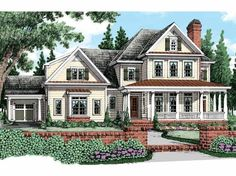 Eplans Farmhouse House Plan - Four Bedroom Farmhouse - 3956 Square Feet and 4 Bedrooms from Eplans - House Plan Code HWEPL62964