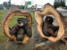 Beautiful wood carving talent