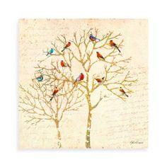 Birds Tree 2 Canvas Wall Art - BedBathandBeyond.com
