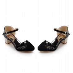 Carol Shoes Elegance Women's Chic Grace Buckle Applique Mesh Voile Chunky Mid Heel Sandals *** Read more reviews of the product by visiting the link on the image.