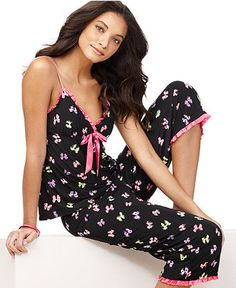 Jenni Pajamas, Slinky Knit Tank Top and Pajama Pants Set
