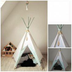 Sátor - gyerek kuckó - Fehér - Menta , Ez a kedves kis sátor védelmet adhat a nap, a szél, de még az ágy alatti szörnyek elől is. Lehet egy kedvenc kis olvasókuckó, akár az univerzum irányítóközpontja, vagy egy csábító rejtekhely a szülőkkel, cicával vagy kutyussal történő játékhoz. :) Az indiánsátor egyszerű és kényelmes felállítását, valamint lebontását praktikus szerkezete biztosítja. Az ár kizárólag a sátorra vonatkozik, a kiegészítők (párna, szőnyeg) külön megvásárolhatók. A sátor…