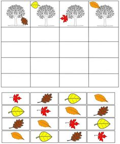 cheznounoucricri - Page 89 Fall Preschool Activities, Seasons Activities, Preschool Math, Kindergarten Worksheets, Educational Activities, Childhood Education, Kids Education, Fall Arts And Crafts, Tree Study