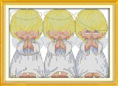 30*25cm Needlework Dmc Set Full Embroidery Kit Popular Counted Cross Stitch Kit Almost Perfect 3 Little Angels Paint Wall Decor //Price: $10.66 & FREE Shipping //     #crafts #sewing