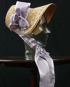Bonnet - Regency - 'Poke Bonnet'  http://pinterest.com/bohemianbird/la-plume-noir/
