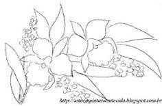Pintura em Tecido Passo a Passo Com Fotos: Pintura em Tecido Flores Orquidea