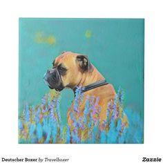 Deutscher Boxer Fliese Painting, Art, Tiles, Idea Paint, Art Ideas, Pet Dogs, Painting Art, Paintings, Kunst