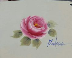 Rose Paintings, One Stroke Painting, Speed Paint, Printing On Fabric, Folk Art, Decoupage, Diy And Crafts, Shabby Chic, Artsy
