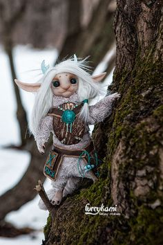 fantasy creature concept by furrykami - magic forest spirit art doll Forest Creatures, Weird Creatures, Woodland Creatures, Magical Creatures, Fantasy Creatures, Forest Elf, Magic Forest, Fantasy Dragon, Fantasy Art