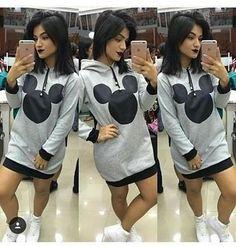 Vestido do Mickey Moletom