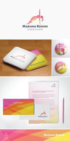 Mariana Rossini - Studio de Pilates Pilates Logo, Studio Pilates, Logos, Logo Branding, Personal Trainer, Studio Logo, Logo Design, Graphic Design, Fitness Logo