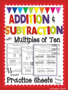 Adding and Subtracting within 100 - 2.NBT.5 | Worksheets, Students ...