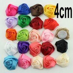 "20PCS 1.4/"" Felt Rose Leaves Flower Hair Accessories Rolled Rosettes Diy Headwear"