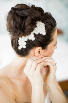 #hair-accessories, #hairstyles  Photography: Betsi Ewing Photography - betsiewing.com  Read More: http://www.stylemepretty.com/2014/07/25/eclectic-urban-wedding-at-the-brooklyn-winery/