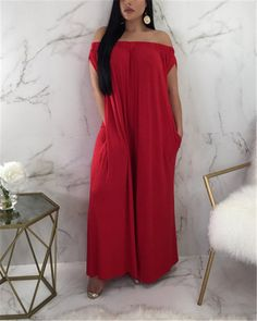 Women Solid Off Shoulder Sleeveless Casual Jumpsuit Long Jumpsuits, Jumpsuits For Women, Blouses For Women, Plus Size Mini Dresses, Off Shoulder Jumpsuit, Casual Jumpsuit, Maxi Dress With Sleeves, Shirt Dress, Pattern Fashion