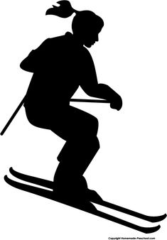 Person Silhouette, Silhouette Cake, Silhouette Clip Art, Silhouette Design, Free Silhouette, Skiing Tattoo, Vbs Themes, Winter Quilts, Boy Quilts