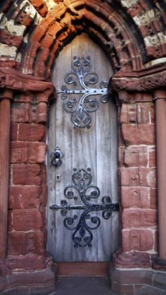 Awesome wooden door.