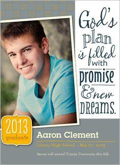 New Dreams Graduation Announcement