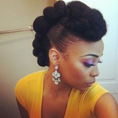 Natural hair updos …. Oh my which one to choose ? | FashionizKaotic