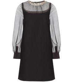 MIU MIU Embellished Dress. #miumiu #cloth #dresses