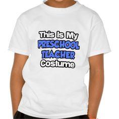 This Is My Preschool Teacher Costume T Shirt, Hoodie Sweatshirt