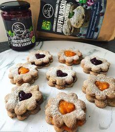 Szafi Free csökkentett szénhidrát-tartalmú vegán linzer/isler (gluténmentes, tejmentes, tojásmentes, szójamentes, hozzáadott cukortól mentes) – Éhezésmentes karcsúság Szafival Muffin, Paleo, Free, Vegan, Cookies, Breakfast, Crack Crackers, Morning Coffee, Biscuits