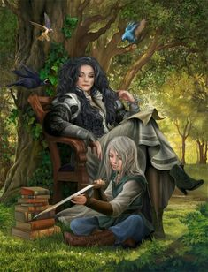 Yennefer and Ciri - The Witcher The Witcher Series, The Witcher Books, The Witcher Geralt, Witcher Art, Fantasy World, Fantasy Art, The Last Wish, Yennefer Of Vengerberg, Blood Elf
