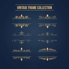 golden ornamental frames
