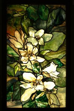 Magnolia window ~ Louis Comfort Tiffany