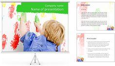 Pintura Boya € ™ s Modelos de apresentações PowerPoint