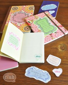 Make your own idea journal with free inspirational printable stickers | Tween Craft Ideas for Mom and Daughter