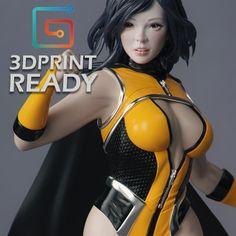 Female Superhero - 3DPrint Ready - Over 5 hours of Video Tutorial, Riccardo Minervino on ArtStation at https://www.artstation.com/artwork/yr925