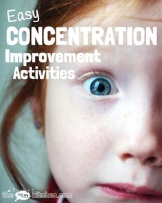Help kids improve concentration with these simple activities and games that are loads of fun to do together and can be easily incorporated into daily life. Repinned by SOS Inc. Resources pinterest.com/sostherapy/.