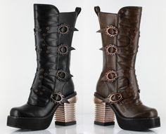 Hades Harajuku Steampunk Gothic Cyberpunk Platform Buckle Boots