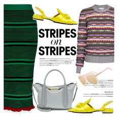 """""""Pattern Challenge: Stripes on Stripes"""" by ifchic ❤ liked on Polyvore featuring Kenzo, Carven, N°21, ZAC Zac Posen, Grey Ant, contestentry, stripesonstripes, ifchic and PatternChallenge"""