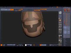 Zbrush fantasy helmet Part 1