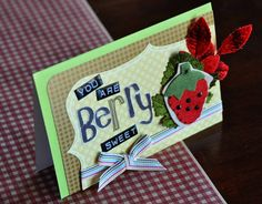 Crafty Polly - card using a Maya Road felt embellishment and Bo Bunny Press letter stickers.