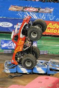 A monster truck rally is a true slice of American insanity...I took this at a rally in Jacksonville FL. A total hoot!