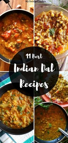 Read 11 everyday Indian dal recipes here. These Indian Lentil soup or curried lentils are perfect co Indian Dal Recipe, Lentil Recipes Indian, Indian Lentil Soup, Lentil Soup Recipes, Curry Recipes, Indian Food Recipes, Rice Recipes, Ethnic Recipes, Vegetarian Curry