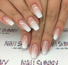 Outstanding Bridal Nails Art Designs Ideas 2018 2019 20 - Alonsa Pin World Cute Summer Nail Designs, Cute Summer Nails, Summer Design, Nagellack Design, Bridal Nail Art, Gel Nails French, Reverse French Nails, Nagel Blog, Pin On