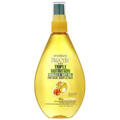 They're billed as skin hydrators, but really, these natural oils have quite a few beauty benefits. Slick it on your face for a fresh glow, work a bit through your hair to smooth flyways, and use a few drops to moisturize ragged cuticles. Try one: Garnier Fructis Triple Nutrition Miracle Dry Oil ($6; walgreens.com).