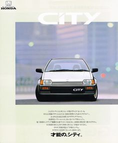 Honda City Mk2 Japan Brochure 1986