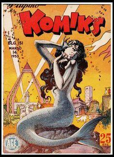 Filipino tattoos – Tattoos And Mermaid Song, Mermaid Fairy, Mermaid Tale, Ariel Mermaid, Crime Comics, Horror Comics, Mermaid Illustration, Illustration Art, Cartoons Magazine
