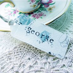 tea party place card by julia eastwood | notonthehighstreet.com